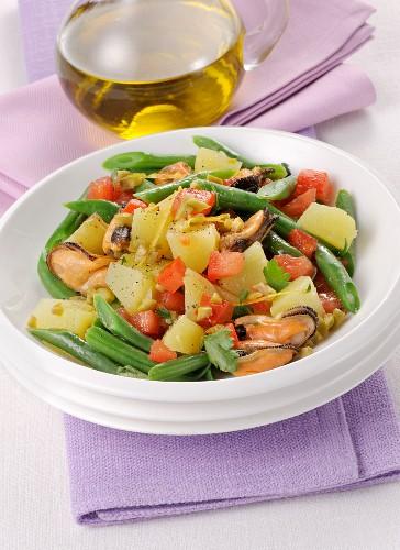 Kartoffel-Miesmuschel-Salat