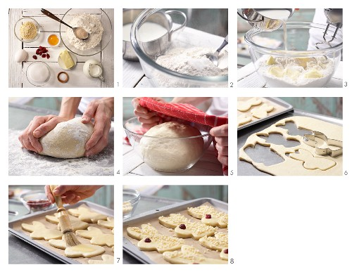 How to prepare sweet yeast bunnies with chopped almonds