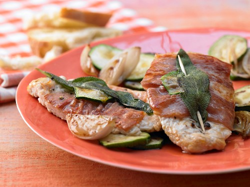 Veal saltimbocca with sage and Parma ham