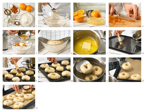 How to prepare apricot bagels with amaranth