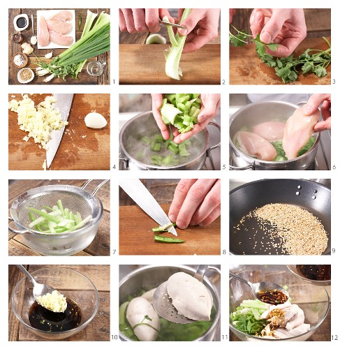 How to prepare Asian chicken salad