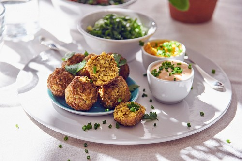 Falafel with dips