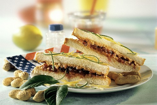 Peanut Butter and Jelly Sandwich; Citrus Rinds