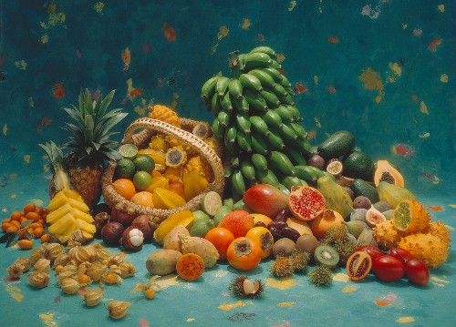 Assorted Tropical Fruit Still Life