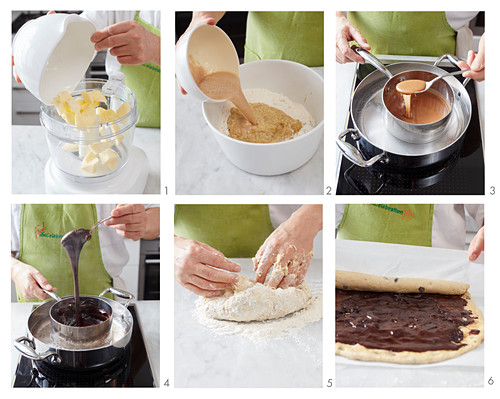 How to bake yeast bread with cocoa and hazelnut filling