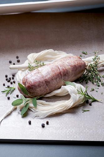 Cotechino di Modena (raw Italian pork sausage)
