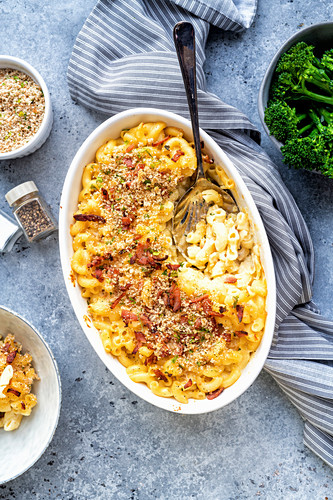 Mac and cheese with bacon, USA