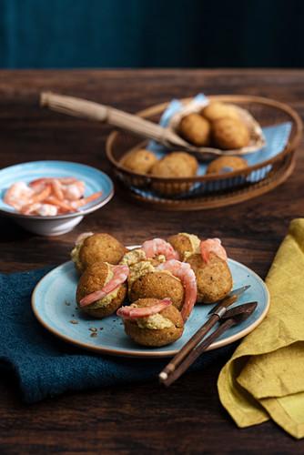 Acaraje (deep-fried bean patties filled with prawns, Brazil)
