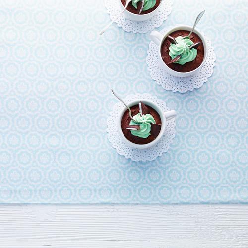 Chocolate peppermint tarts