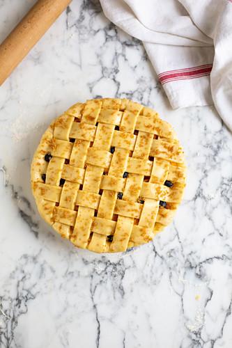 Fruit lattice pie