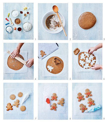 Baking gingerbread figurs