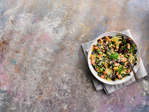 Summer vegetable cheese crumble