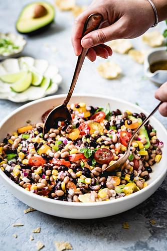 Texas Caviar Salad. A salad of black eyed peas.