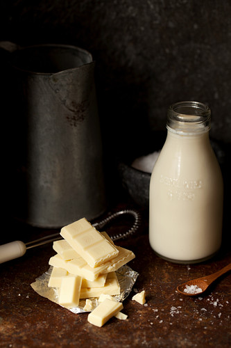 White Chocolate Pieces and Whole Milk