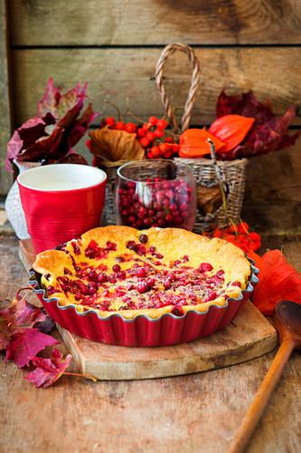Cranberry clafoutis