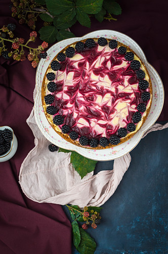 Brombeer-Cheesecake