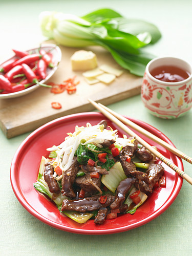 Stir-Fried Beef Teriyaki with Pak Choy