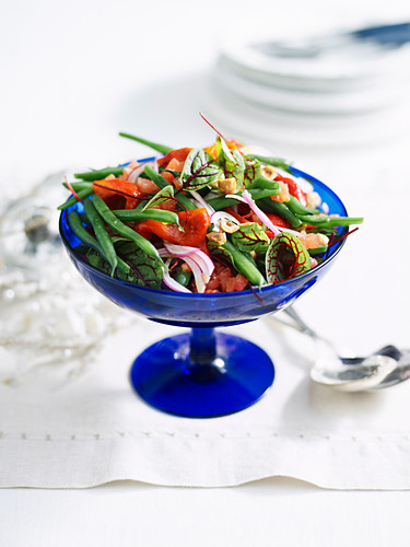 Grren bean salad with tomatoes