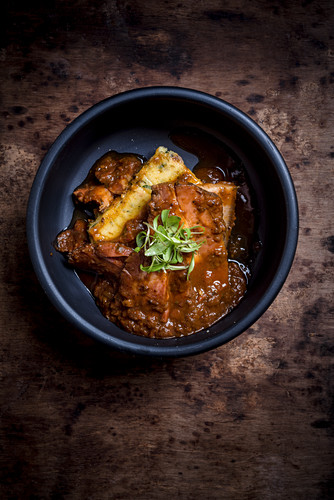 Belly of Pork Curry with Grilled Polenta