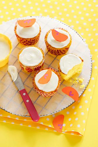 Gluten-free Mandarin, Macadamia and Polenta Cakes