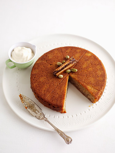 Almond honey spice cake