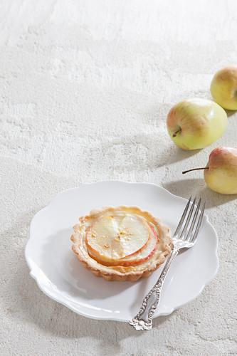 An apple tartlet