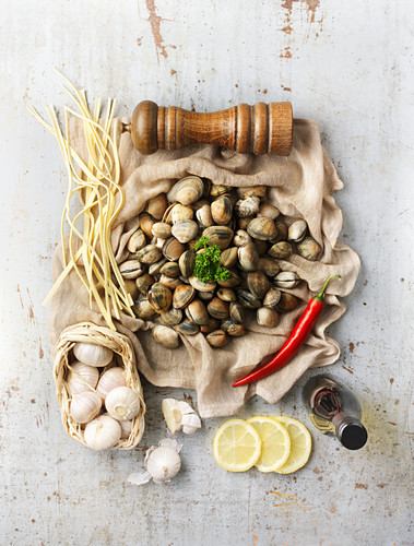 Ingredients for Spaghetti vongole