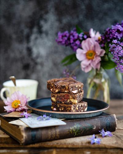 'Rocky road' chocolate cake
