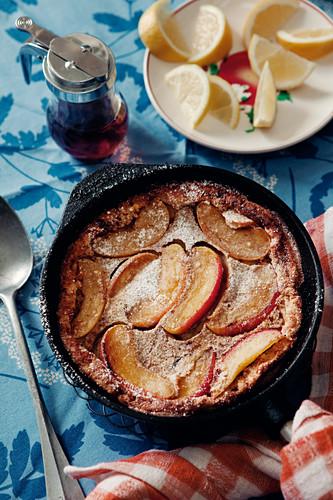 Fluffige Apfelpfannkuchen