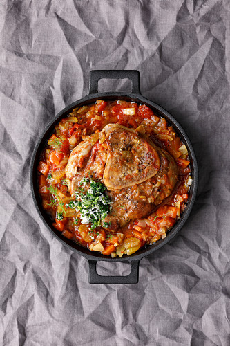 Osso bucco with fennel and Parmesan gremolata