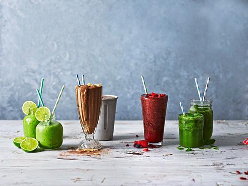 Four powerfood smoothies