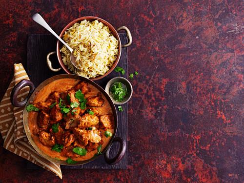 Chicken Tikka Masala mit Reis (Indien)