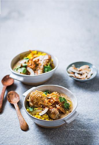 Opor ayam - Coconut chicken with macadamia (Indonesia)