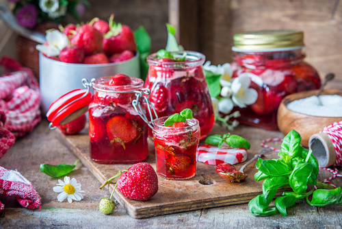 Strawberry and basil jam