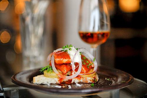 A herring and sherry sauce sandwich (Johan Jureskog, Sweden)