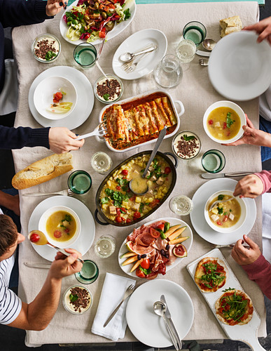 An Italian buffet for guests