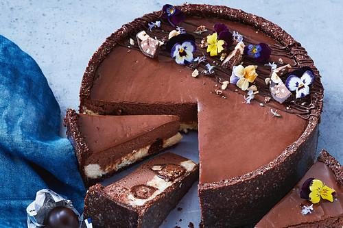 Choc-hazelnut baci cheesecake