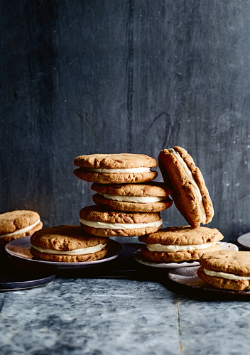 Choc brown butter cookies with bourbon frosting