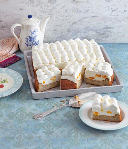 Mandarin cream cheese cake