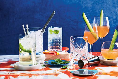 Various Italian cocktails (Santa Marta Spritz and Bianco)