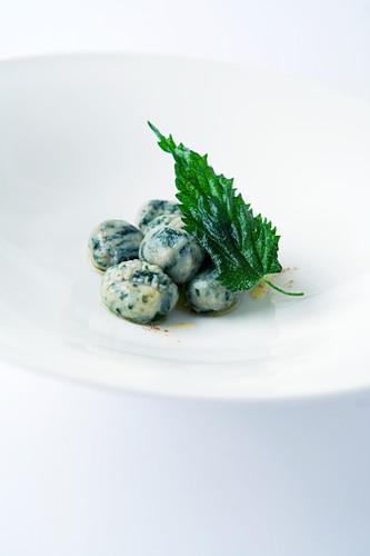 Nettle potato gnocchi with Parmesan