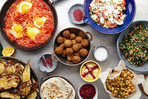 Traditional middle eastern food
