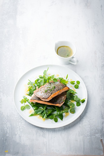 Trout with chive butter