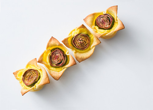 Artichoke mini quiches