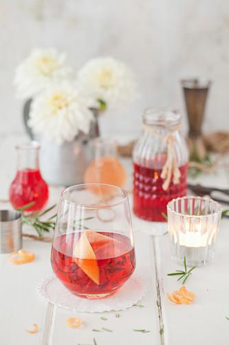 A Classic Campari Negroni Cocktail