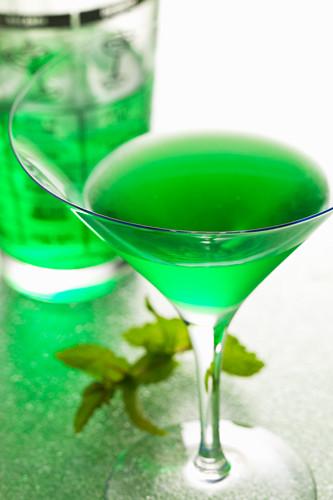 Cocktail Caruso mit Creme de Menthe