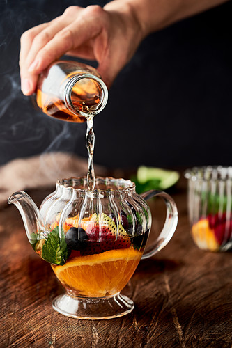 Hot Tea with fruits