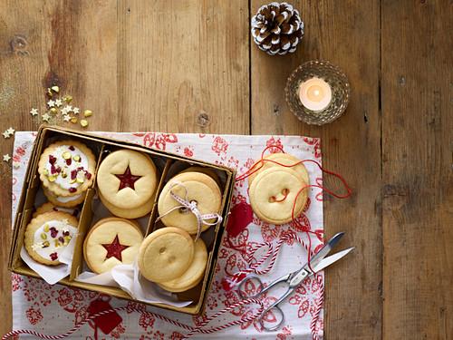 Various Christmas butter cookies