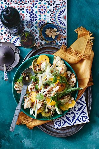 Cauliflower, fennel and orange salad
