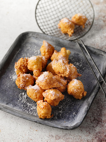 Quick, deep-fried quark balls from the Rhineland